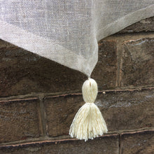 Load image into Gallery viewer, Natural Sheer Linen Cafe Curtain with Tassel