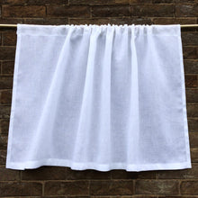 Load image into Gallery viewer, Linen Kitchen Cafe Curtain, White, Ivory