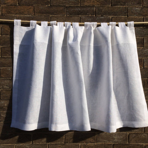 Linen Looped Tab Curtain Panel