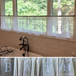 BATH Embroidered Cafe Curtain Set