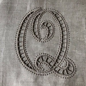 Custom Bed Runner 100% linen Cutwork Personalised Embroidery Monogram Scalloped Lace, Super king