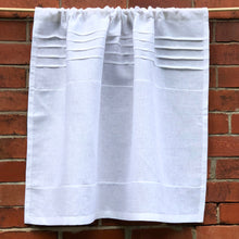 Load image into Gallery viewer, White Cafe Panel, 100% Flax Linen Curtain,  Paris Kitchen