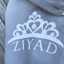 Load image into Gallery viewer, Personalised Cot Sheet, Princess Name, Linen Baby Fitted Sheet