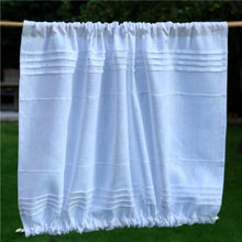 Load image into Gallery viewer, Linen Window Panel, Personalized Monogram Curtain, White Sidelight Privacy Curtain