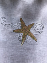 Load image into Gallery viewer, Linen Seascape Beach House Curtain with Starfish Embroidery