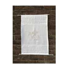 Load image into Gallery viewer, Linen Cabinet Panel, Personalized Monogram Curtain, White Sidelight Curtain