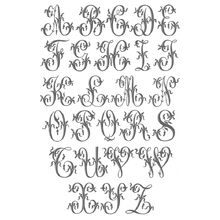 Load image into Gallery viewer, Napkin - Grey Linen French Monogram Napkin Sets