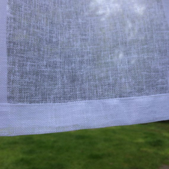 Tall Sheer Linen Panel with Curtain Tape