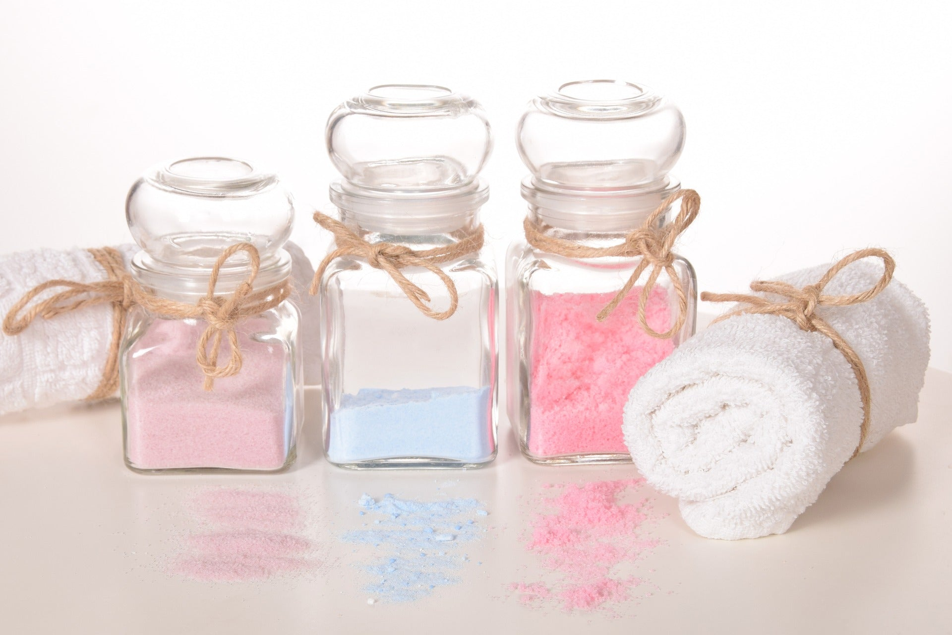 Aroma bath salts for a self-care routine