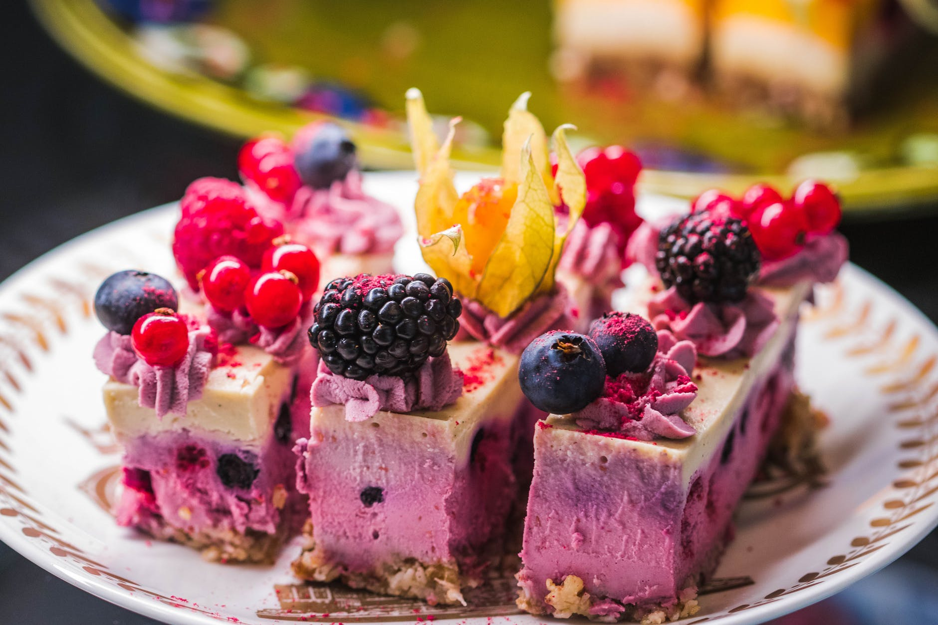 Blueberry cheesecak