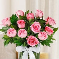 Pink rose bouquet - for Flower Delivery in Subcategory Flowers Roses White Rose