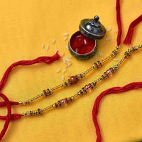 set of 2 rakhi - for Rakhi Delivery in Occasion Rakhi Bhaiya Bhabhi