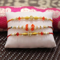 set of 3 rakhi - from Best Rakhi Delivery in Occasion | Rakhi | Rakhi with Dry Fruits