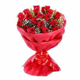 Cute Love- 24 Red Roses Bouquet - for Online Flower Delivery In India