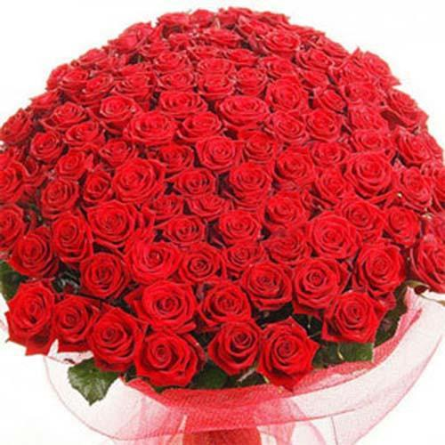 Eternal Love- 100 Red Roses Bouquet