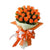 Passion Orange Rose Bouquet- - for Flower Delivery in India -A lovely bouquet of 24 orange flowers for showing enthusiasm within.   While we always strive to ensure that products are accurately represented in our photographs, from season to season and subject to availability, our florists may be required to substitute one or more flowers for a variety of equal or greater quality, appearance and value.