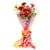 Lovely Mixed Carnation Bouquet- - for Midnight Flower Delivery in India -A cute bouquet of 12 mixed carnations for your loved ones. Nicely wrapped with pink wrapping paper, a mixed color carnations bunch suitable for gifting in occasions like Birthday, Anniversary, Wedding, etc.   While we always strive to ensure that products are accurately represented in our photographs, from season to season and subject to availability, our florists may be required to substitute one or more flowers for a variety of equal or greater quality, appearance and value.