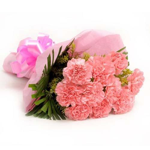 Lovely Pink Carnation Bouquet - from Best Flower Delivery in India