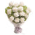 Good Luck White Carnation Bouquet--A lovely bouquet of 24 white carnations, A symbol of love and good luck. Gift this bunch to your loved ones, which symbolizes pure love and good luck.   While we always strive to ensure that products are accurately represented in our photographs, from season to season and subject to availability, our florists may be required to substitute one or more flowers for a variety of equal or greater quality, appearance and value