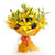 Vibrant Yellow Lily Bouquet- - for Midnight Flower Delivery in India -A vibrant bouquet of 6 yellow lily sticks. For the love and passion of yellow flowers! When you want to send something exciting and unexpected, this is your go-to guy. Some Lilies may arrive in bud form, ready to bloom into full beauty in 2-4 days While we always strive to ensure that products are accurately represented in our photographs, from season to season and subject to availability, our florists may be required to substitute one or more flowers for a variety of equal or greater quality, appearance and value.