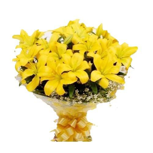 Grand Yellow Lily Bouquet