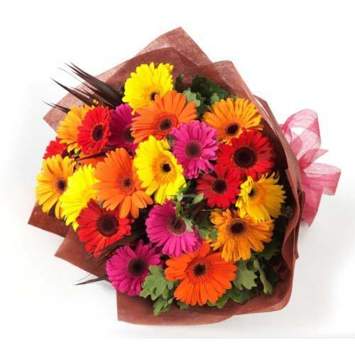 Sunshine Gerbera Bouquet - from Best Flower Delivery in Category | Flowers | Mix Color Flowers