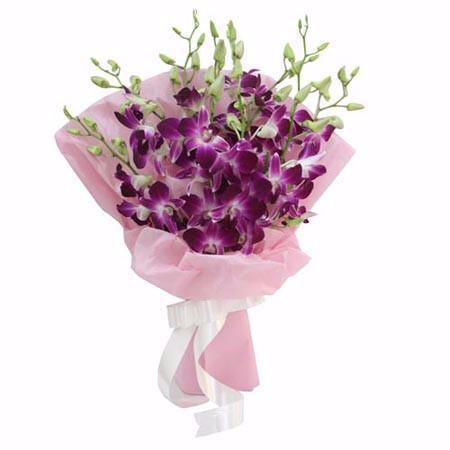 10 Orchids Premium Bunch - from Best Flower Delivery in Pune