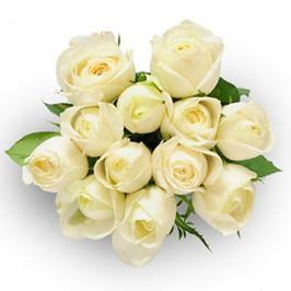 White Love-white rose hand bouquet - from Best Flower Delivery in India