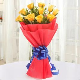 Red and Yellow bunch-beautiful yellow and red roses bouquet - from Best Flower Delivery in India