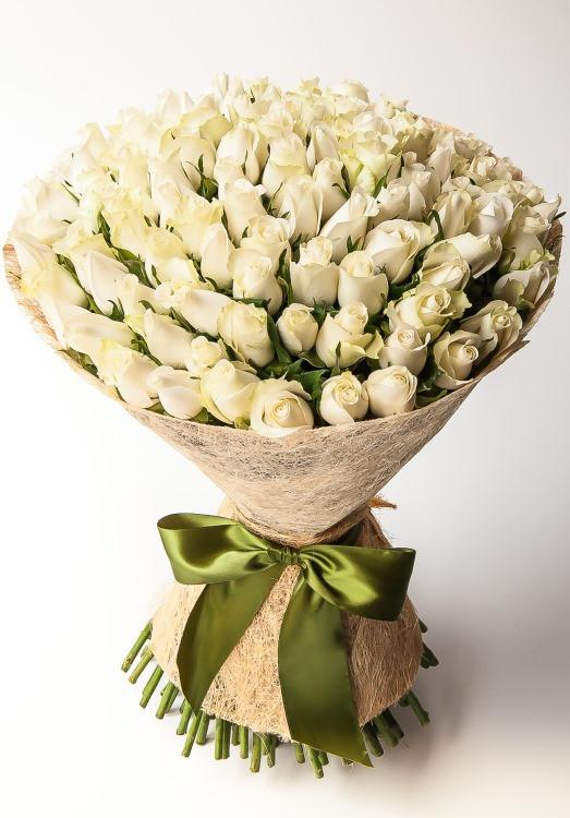 Mega 100 White Roses-100 white roses bouquet - from Best Flower Delivery in Category | Flowers | Mother's Day Flowers