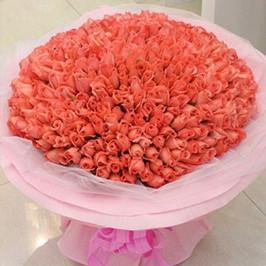 143 Pink Roses Premium-Lovely Bouquet - for Midnight Flower Delivery in India