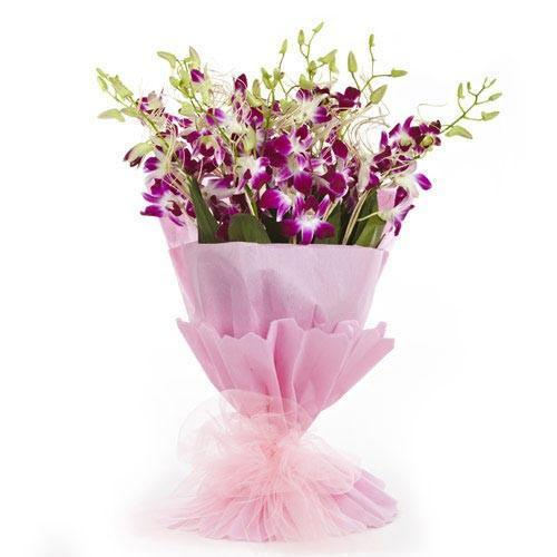 Purple Orchids Premium Bunch - for Flower Delivery in Occasion Gifts New Year