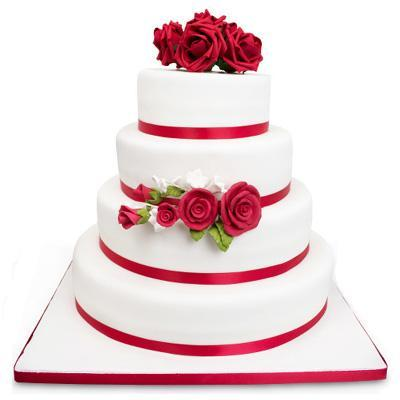 4 Tier Red Love Cake - Send Flowers to India