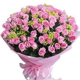 50 Dark Pink Rose Bouquet-a bouquet of pink roses - from Best Flower Delivery in Rs 1000 to Rs 2000