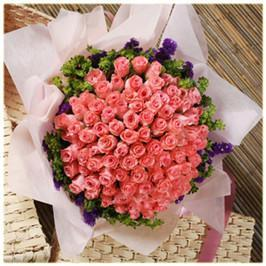 50 Pink Roses Premium Bunch-big bouquet of pink roses - for Flower Delivery in India