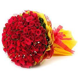 143 Red Roses Premium I LOVE YOU Bouquet - Send Flowers to India
