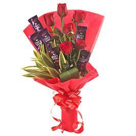 Roses and Chocolates - Send Flowers to India