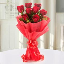 Mini Red Love- Red Roses Bouquet For Birthday