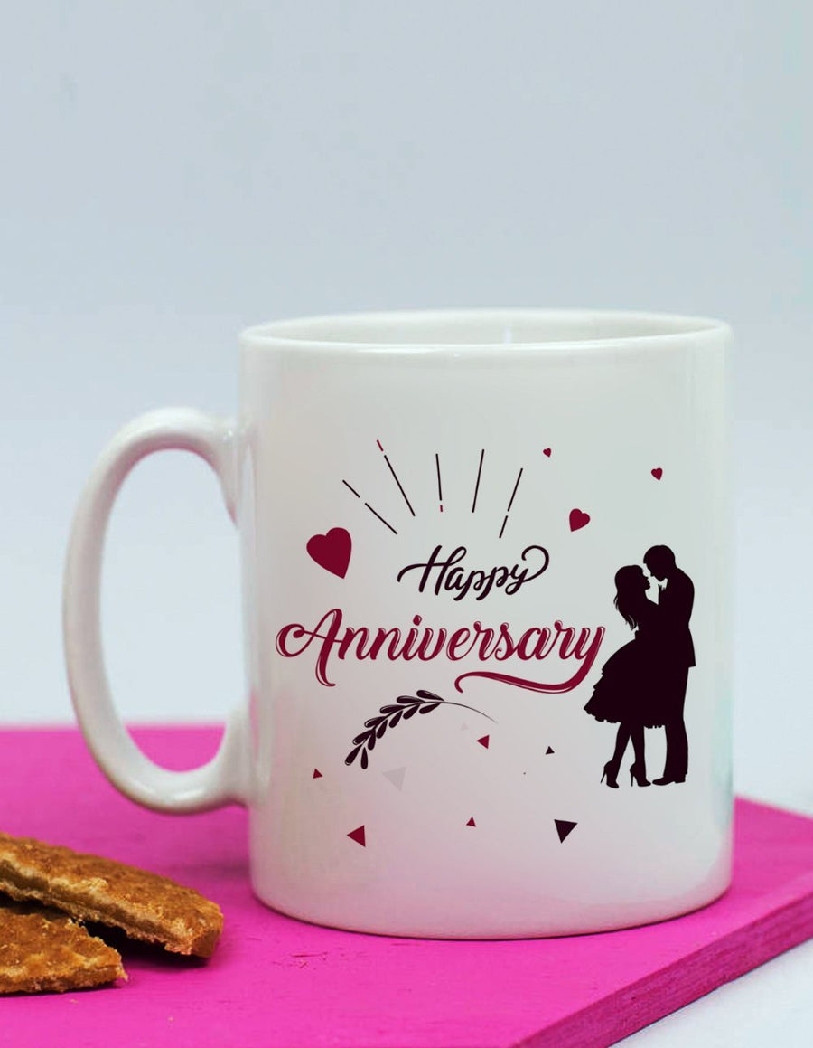 Anniversary Mug For Couple - for Online Flower Delivery In India