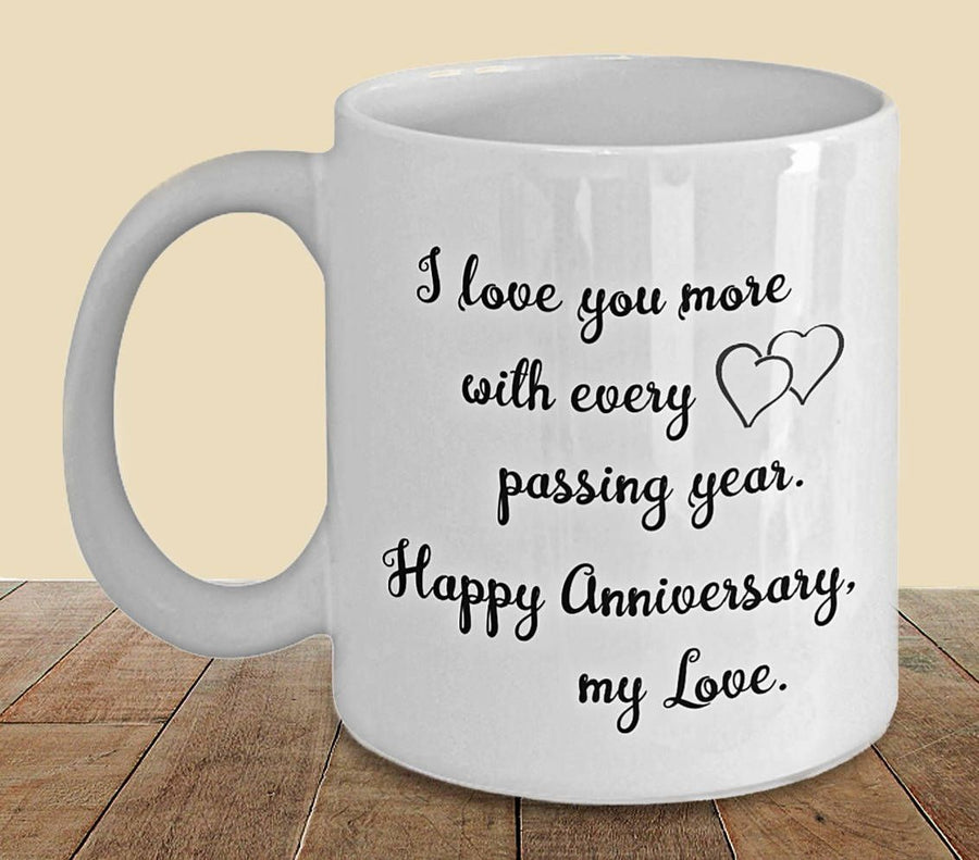 Anniversary Mug For You - for Flower Delivery in India