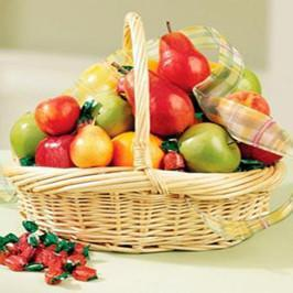 Round Exotic Fruits Basket 4 KG - for Online Flower Delivery In India