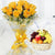 Basket of Health- - for Midnight Flower Delivery in Valentine Gifts For Girlfriend -A wonderful and healthy combo, this includes 12 beautiful yellow roses and 4 kg of hand-selected fresh fruits for best taste in a classic basket.