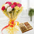 Best Wishes- - for Midnight Flower Delivery in Valentine Gifts For Girlfriend -This beautiful combo has bunch of 10 mix color carnation wrapped in cellophane with ribbon bow and 1/2 kg dry fruits. Send this to someone special for giving the best wishes.