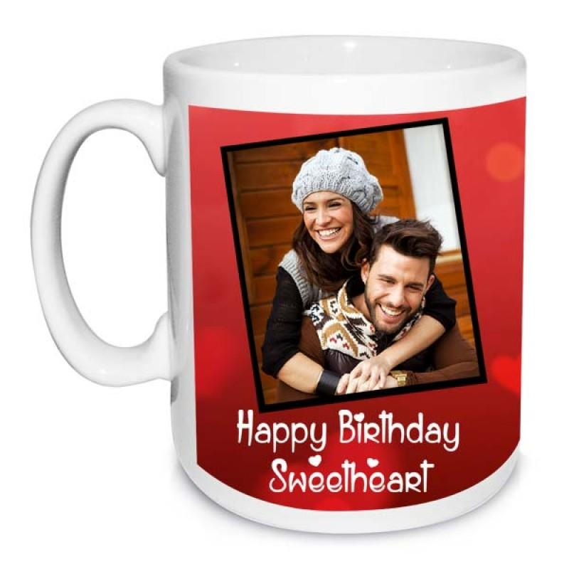 Birthday Mug For Sweetheart - for Midnight Flower Delivery in India
