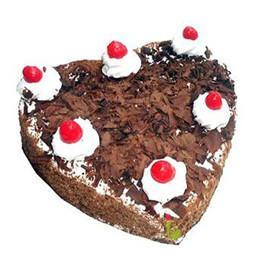 Heart Shape Black Forest - from Best Flower Delivery in India