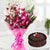 Blushing Love- - for Online Flower Delivery In Category Flowers Orchids -A perfect combination of beauty and taste, the combo has bunch of 6 Premium Fresh Orchids and half kg delicious chocolate cake. The recipient will love orchids and enjoy the cake on the special day.