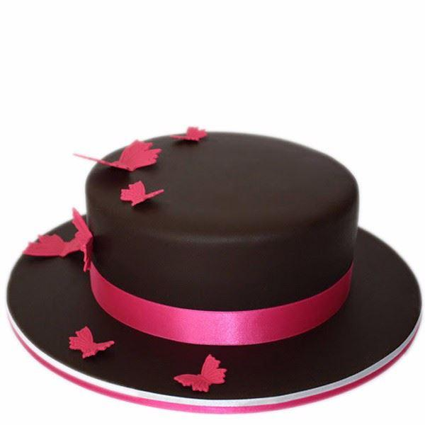 Butterfly Chocolate Fondant Cake - for Midnight Flower Delivery in India