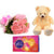Sweetest Of All- - This exciting combo of Flowers, Chocolates and Teddy contains: 10 fresh pink carnations bunch One 6 inch Teddy One Cadbury Celebrations While we always strive to ensure that products are accurately represented in our photographs, from season to season and subject to availability, our florists may be required to substitute one or more flowers for a variety of equal or greater quality, appearance and value.