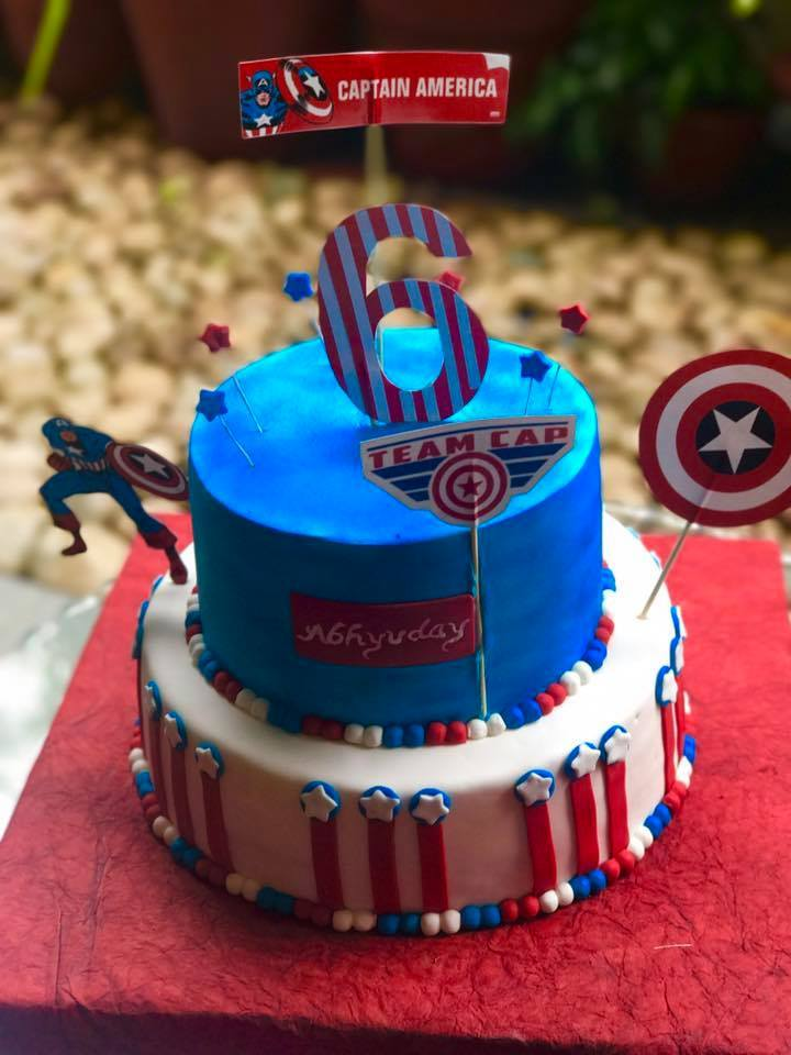 Captain America Theme Cake - for Online Flower Delivery In India