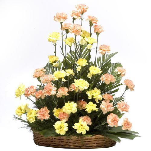 Carnation Love Basket - for Online Flower Delivery In India